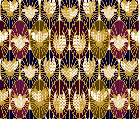 Art Deco Scale fabric by svetlana_kononova on Spoonflower - custom fabric