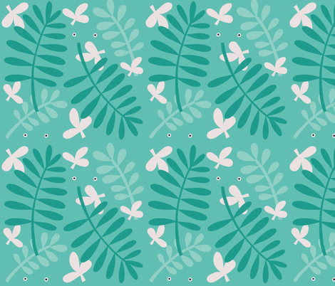 Leafy (looking) fabric by anda on Spoonflower - custom fabric