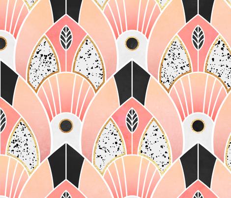 Blush Deco fabric by elisabeth_fredriksson on Spoonflower - custom fabric