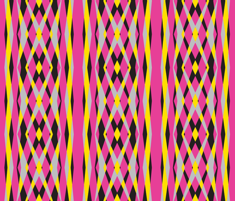 Skylights Art Deco Stripes-Hot pink fabric by lorloves_design on Spoonflower - custom fabric