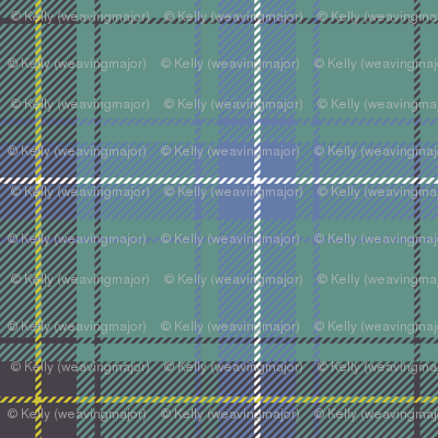 "Henderson or MacKendrick tartan, 4"" muted faded"