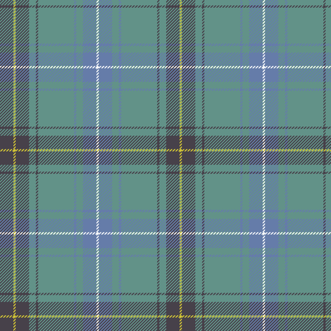 "Henderson or MacKendrick tartan, 4"" muted faded fabric by weavingmajor on Spoonflower - custom fabric"