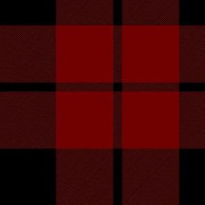 "Brown tartan, custom 7"" dark red"