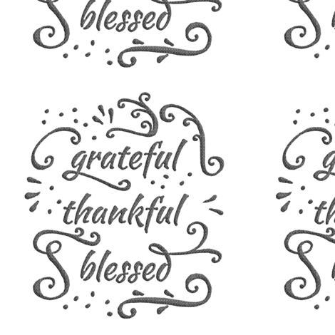 "grateful • thankful • blessed (6x9"" burlap-texture) fabric by weavingmajor on Spoonflower - custom fabric"