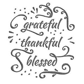 "grateful • thankful • blessed (6x9"" burlap-texture)"