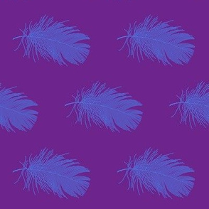 featherbed - blue on purple