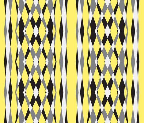 Skylights Art Deco Stripes-yellow grey fabric by lorloves_design on Spoonflower - custom fabric