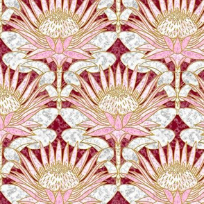 Blush King Protea Art Deco (burgundy)