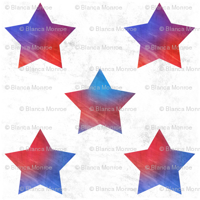 Grunge rainbow stars