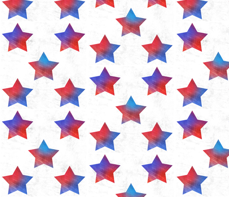 Grunge rainbow stars fabric by blancamonroe on Spoonflower - custom fabric