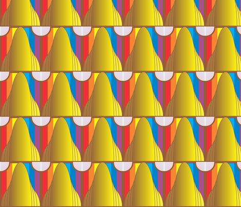 art deco rainbow 03  2 26 2018 fabric by compugraphd on Spoonflower - custom fabric