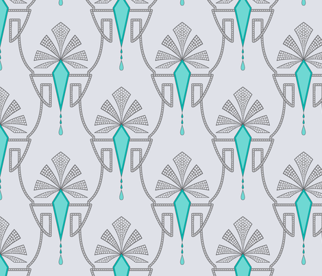 Art deco ornament fabric by effi_keijsper on Spoonflower - custom fabric