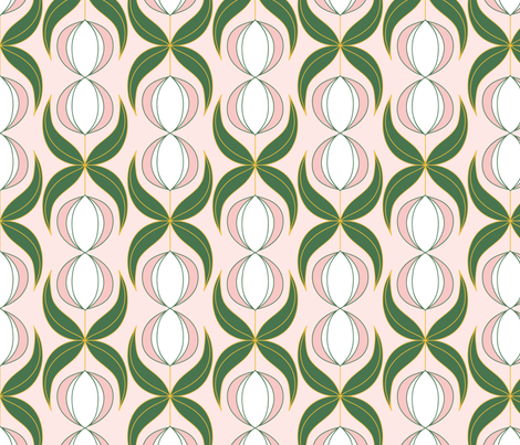 Art-Deco-Flowers-_Studio-Roomsoes fabric by studio_roomsoes on Spoonflower - custom fabric