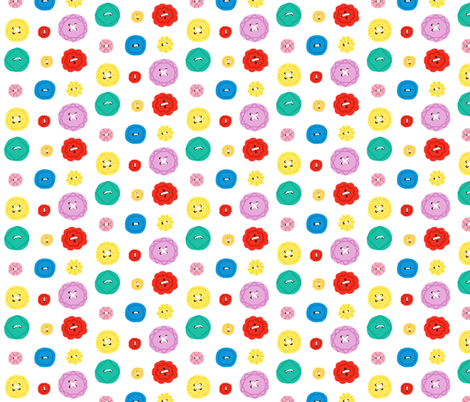 Buttons fabric by ellolovey on Spoonflower - custom fabric