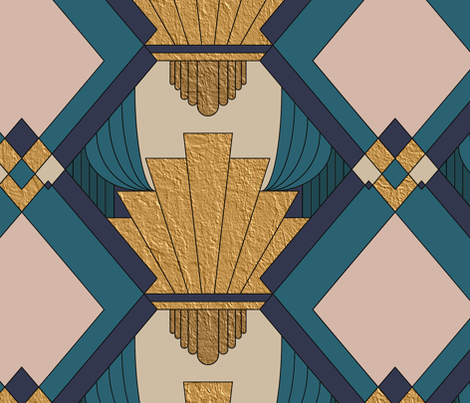 Art Deco Large Scale fabric by emily_laughlin on Spoonflower - custom fabric