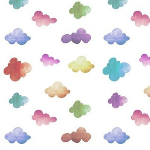 Pastel clouds white