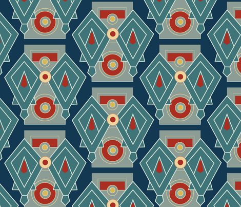 Art Deco Duvet fabric by longwill_designs on Spoonflower - custom fabric