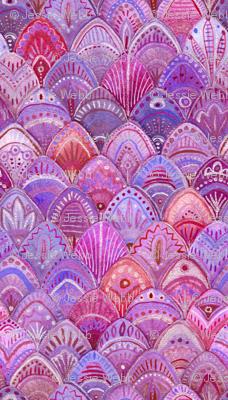 Mermaid Scales - Purple