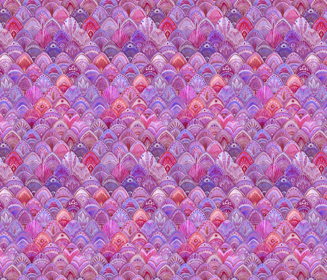 Mermaid Scales - Purple fabric by artfully_minded on Spoonflower - custom fabric