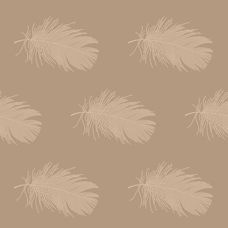 tan feather on mocha brown fabric by weavingmajor on Spoonflower - custom fabric