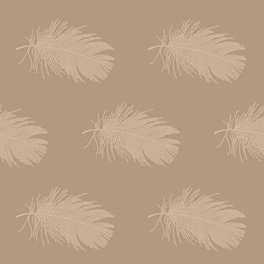 tan feather on mocha brown
