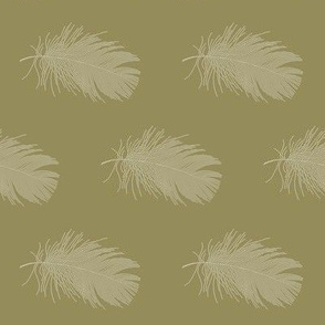 cream feather on ochre