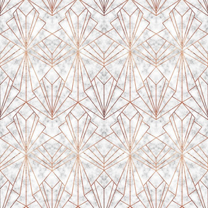 Art Deco Marble & Copper