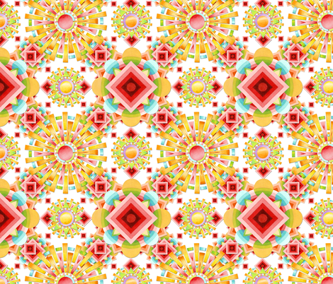 Aztec Sunglow fabric by patriciasheadesigns on Spoonflower - custom fabric