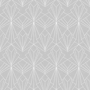 Art Deco on Grey