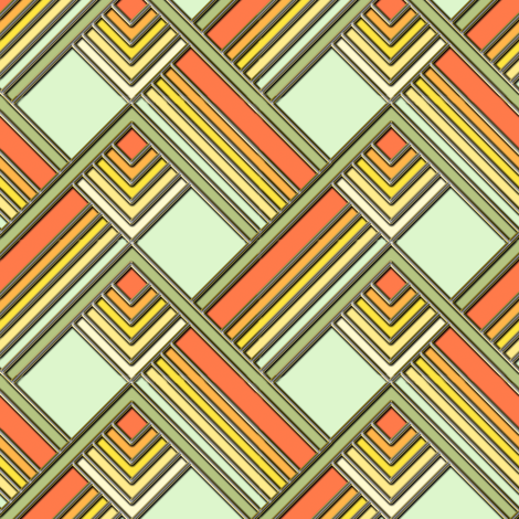 Art Deco Sunshine Gold fabric by eclectic_house on Spoonflower - custom fabric