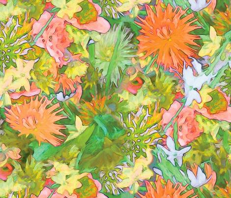 BIG Cornwall Bouquet fabric by jeanfogelberg on Spoonflower - custom fabric