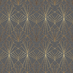 Art Deco in Gold & Grey