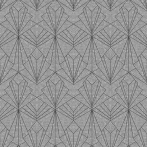 Art Deco on Scratched Grey