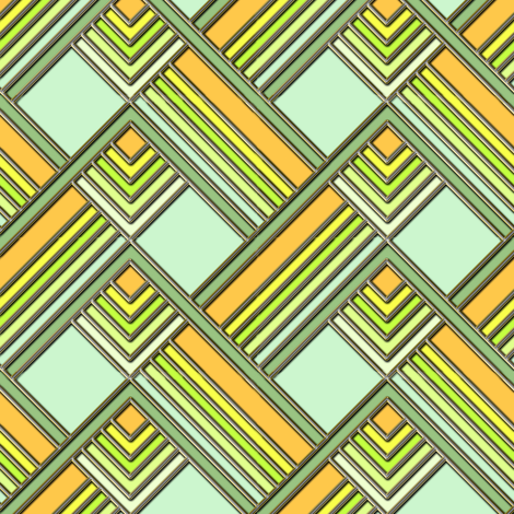 Art Deco Springtime fabric by eclectic_house on Spoonflower - custom fabric