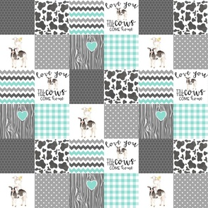 3 Inch Farm // Love you till the cows come home - wholecloth cheater quilt
