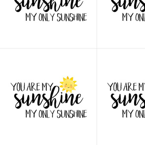 12 Inch You are my sunshine - with guides