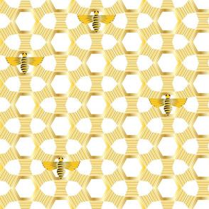 Bees Knees Art Deco on White