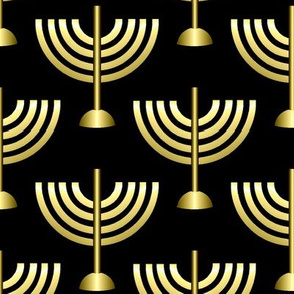 Menorahs, Gold