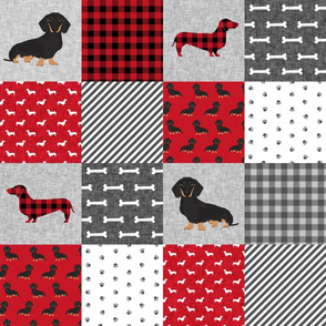 dachshund pet quilt a dog breed cheater quilt black and tan