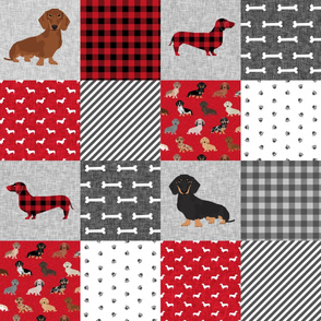 dachshund pet quilt a dog breed cheater quilt multi coat