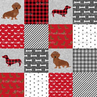 dachshund pet quilt a dog breed cheater quilt
