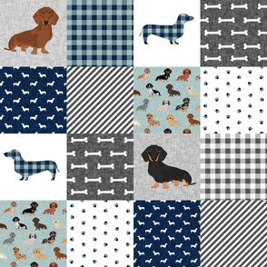 dachshund pet quilt b dog breed silhouette cheater quilt multi coats
