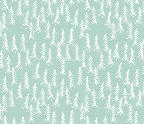 Windblown Pines Mint fabric by bags29 on Spoonflower - custom fabric