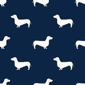 dachshund pet quilt b dog breed silhouette quilt coordinates navy