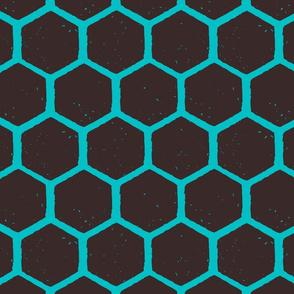 hexagon blockprint blue-01