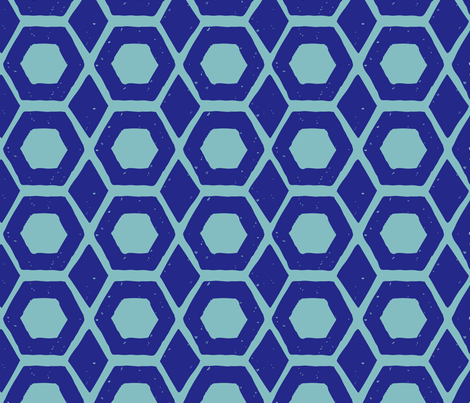 hexagon diamond block print pattern-01 fabric by kristin_nicholas on Spoonflower - custom fabric