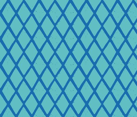 small diamonds stripe BLUE TURQ-01 fabric by kristin_nicholas on Spoonflower - custom fabric