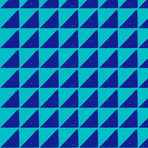 small triangle block print fabric turq blue-01