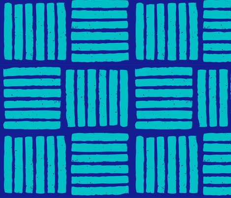 stripes block print alternating-01 fabric by kristin_nicholas on Spoonflower - custom fabric