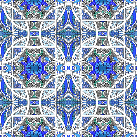 Battle of the Circle and Square fabric by edsel2084 on Spoonflower - custom fabric